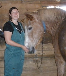 Debbie Stepp, DVM with horse